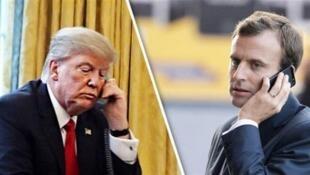 Hai tổng thống Mỹ-Pháp Donald Trump và Emmanuel Macron thường xuyên nói chuyện điện thoại với nhau, một điều hiếm thấy thời Obama-Hollande.