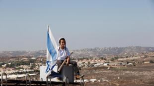 Amona, assentamento israelense na Cisjordânia.