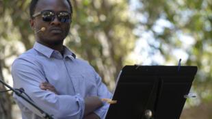 Marc Zinga dans le rôle-titre de Thomas Sankara dans « Sank ou la patience des morts », d'Aristide Tarnagda (Burkina Faso).