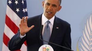 Visita do presidente americano, Barack Obama, a Dacar, capital do Senegal.