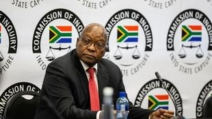 Former President Zuma, heard by the commission of inquiry, in Johannesburg, 15th July.
