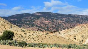 Le mont Mghilla situé dans la région de Sidi Bouzid, en Tunisie.