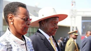Uganda's President Yoweri Museveni with his wife Janet, the current education minister