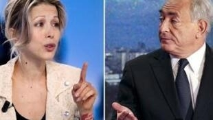 Tristane Banon and Dominique Strauss-Kahn.