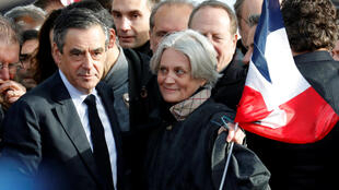 François and Penelope Fillon at his last election rally
