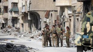 Солдаты «Демократических сил Сирии» в окрестностях Ракки. 16 сентября 2017