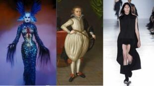 Extravagância, exageros e ousadia pontuam percurso da exposição sobre os escândalos na moda