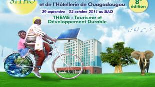 L'affiche du 8ème Salon internationale du tourisme et de l'hôtellerie de Ouagadougou (SITHO), au Burkina Faso.