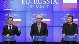 Заключительная пресс-конференция саммита ЕС - Россия в Брюсселе 7 декабря 2010 г.