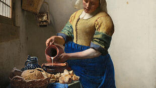 Johannes Vermeer, La Laitière, vers 1658-1659. Huile sur toile. 45,5 x 41 cm. Amsterdam, Rijksmuseum.