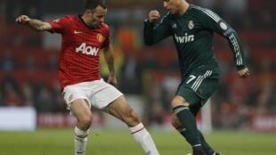 Cristiano Ronaldo(d), garante virada do Real sobre o Manchester