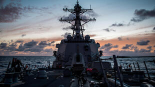 Khu trục hạm USS Dawey mang tên lửa dẫn đường tham gia cuộc tập trận RIMPAC ngày 10/07/2018.