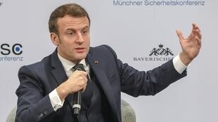 French President Emmanuel Macron at the 56th Security Conference in the German city of Munich.