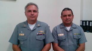 Comandante, Gildes  e o comandante Marinho