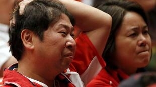 Japanese fans were left disappointed after their team failed to recreate their opening match pyrotechnics against South Africa.