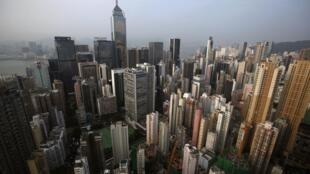 资料图片:港岛区俯瞰。摄于2012年8月29。