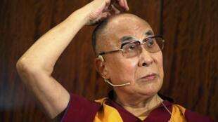 資料圖片:西藏流亡精神領袖達賴喇嘛。2016年9月13日攝於巴黎。