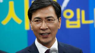 Ahn Hee-jung était arrivé deuxième l'année dernière dans la course à l'investiture du Parti démocratique pour la présidentielle sud-coréenne.
