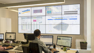 Centro de control de parques eólicos y fotovoltaicos de la firma Kaiserwetter.