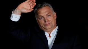 Hungarian Prime Minister Viktor Orban addressing a political rally in 2018