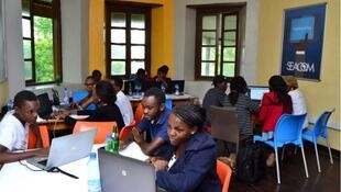 Swahilipot Hub in Mombasa Kenya, a place where youth can use computers and learn about technology.