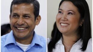 Ollanta Humala y Keiko Fujimori