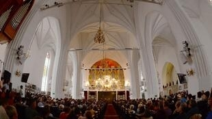 cathedral in the city of Kaliningrad, on July 18, 2015.