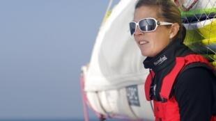 Samantha Davies on board Saveol