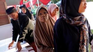 印度尼西亚举行总统选举及国会和各级地方议会选举投票  2019年4月17日