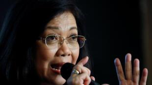 Maria Lourdes Sereno, l'ex-présidente de la Cour suprême des Philippines, destitutée en mai dernier.