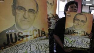O papa Francisco desbloqueou canonização de Oscar Romero, arcebispo salvadorenho assassinado em 1980.