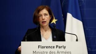La ministre française des Armées Florence Parly, au siège des Forces armées françaises à Paris, France, le 10 mai 2019.