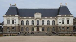 Le Palais du Parlement de Bretagne à Rennes.