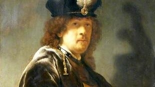 Detalhe de autorretrato de Rembrandt cuja autenticidade foi confirmada.