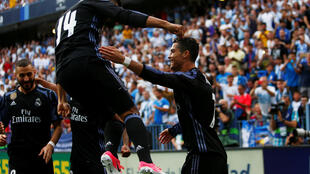 Cristiano Ronaldo abriu o placar para o Real Madrid.