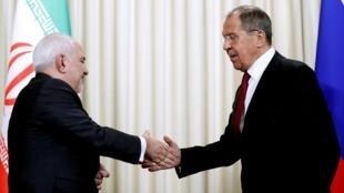 Джавад Зариф и Сергей Лавров в Москве 2 сентября 2019 г.