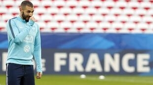 O atacante do Real Madrid, Karim Benzema.