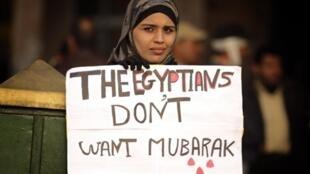 An Egyptian demonstrator on 4 February