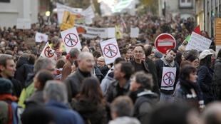 Demonstration against the project of a new airport near the western French city of Nantes, at  Notre Dame des Landes, 24 november 2012.