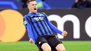 Josip Ilicic marque le deuxième but de la rencontre Atalanta - Valencia, 19 février 2020.