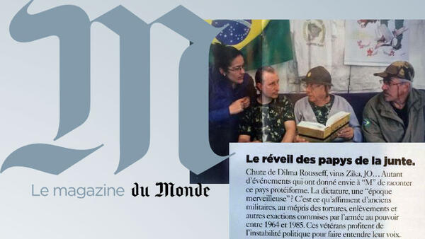 "Revista ""M"" do Le Monde retrata a ""folclórica"" extrema-direita brasileira."
