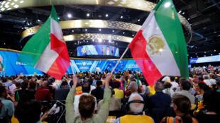 Người ủng phe đối lập Iran tập họp tại Villepinte, ngoại ô  Paris, ngày 30/06/2018.