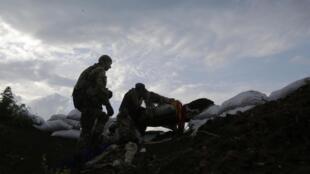 Пророссийские сепаратисты в Донецкой области Украины, июль 2015 г.