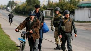 Бойцы Нацгвардии Украины, сентябрь 2017 года