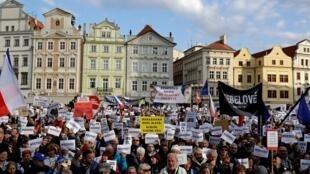 Акция протеста с требованием отставки премьер-министра Чехии Андрея Бабиша, 6 мая 2019
