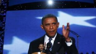Obama discursa para partidários democratas em convenção que o oficializou como candidato à reeleição
