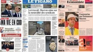 Reformas do Trabalho ganham destaque os jornais franceses.
