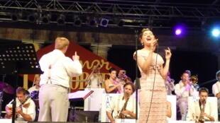 L'Abbey Town Jazz Orchestra en concert au festival Summer Jamboree à Senigallia, dans le centre de l'Italie, le 6 août 2011.