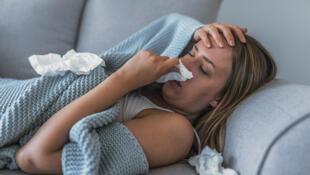 美國正面臨嚴重流感季,50個州中有46個州廣泛流行.2020年1月9日