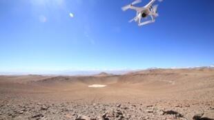 Le cratère Monturaqui (450 m de diamètre) au Chili.
